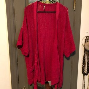 Free people open front cardigan sweater